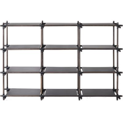 Stick System Shelving, 3x4 Grey