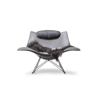 Stingray rocking chair Mat grey, Flint