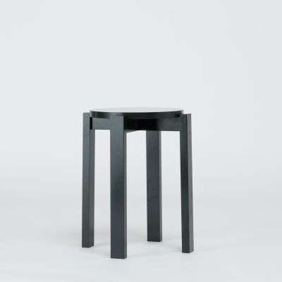 Stool Four Ash, Lacquered Green