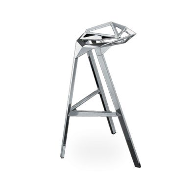 Stool One - Stacking, Set of 2 Aluminum, High