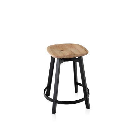 Su Counter Stool Black Aluminium, Oak