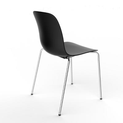 Substance Stacking Chair - Set of 2 Black Frame, Beige Grey Seat