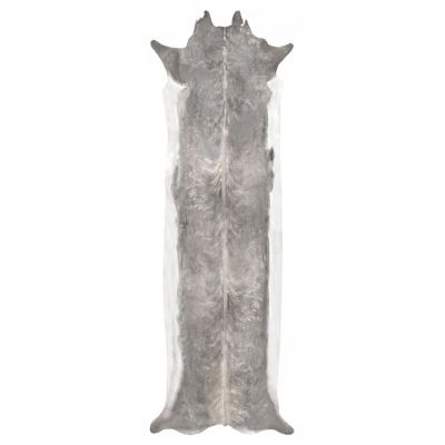 Super Long Stretched Cowhide Rug  Super Long Stretched Cowhide Rug Bleached Large