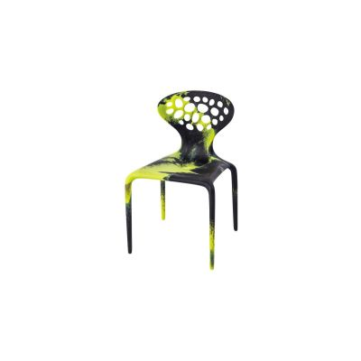 Supernatural Dining Chair with Perforated Back - Set of 4 Black/Fluo Green
