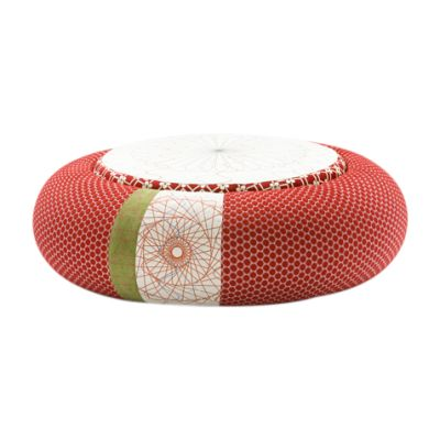 Donut Pouf Round Sushi Edition Red, 94 X 50 X 45