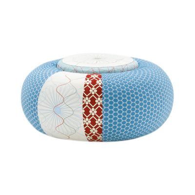 Donut Pouf Round Sushi Edition Green, 140 X 94 X 45