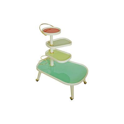 Sushi Kart Side Table White, 4 Colours, Glass