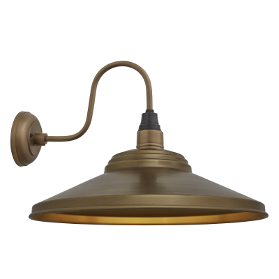 Swan Neck Giant Step Wall Light - 18 Inch Swan Neck Giant Step Wall Light - 18 Inch - Brass