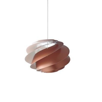 Swirl 1 Pendant Light Copper