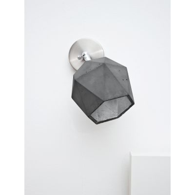 [T2] Spot Wall Light Triangle Dark Grey Concrete, Silver Plating