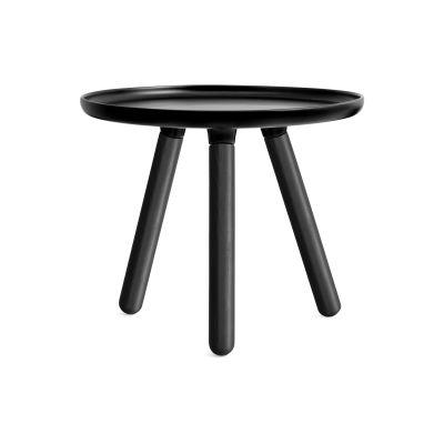 Tablo Round Coffee Table - Ex display Black Top, Black Ash legs, Small