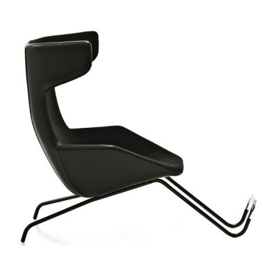 Take a line for a walk - Armchair with foot-rest Remix 643 Vermilion - S, Steel