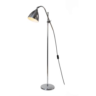 Task Floor Lamp Polished Aluminium