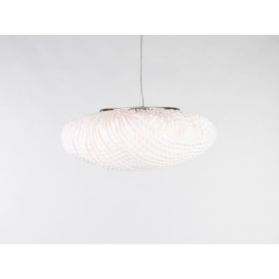 Tati Large Pendant Lamp Transparent Cable, Orange, 92