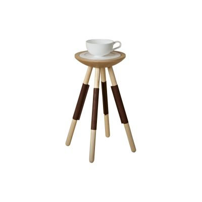 Tea for One Table Natural Leather