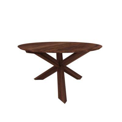 Teak Circle Dining Table Walnut, 163 x 163 x 76 cm
