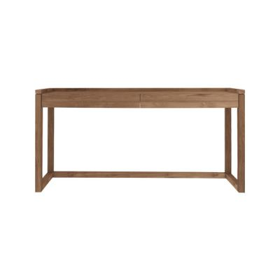 Teak Frame Office Console Table 160 x 43 x 82 cm