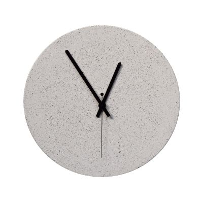 TEMPUS 32 concrete wall clock ivory sand