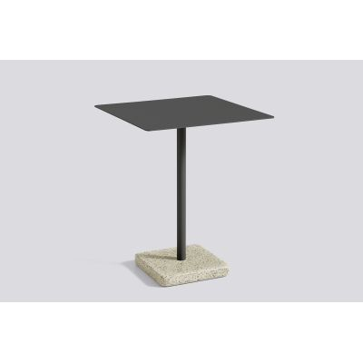 Terrazzo Square Outdoor Table Anthracite Top with Yellow Base