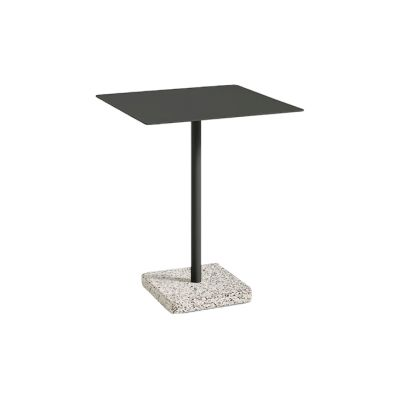 Terrazzo Square Outdoor Table Anthracite Top with Grey Base