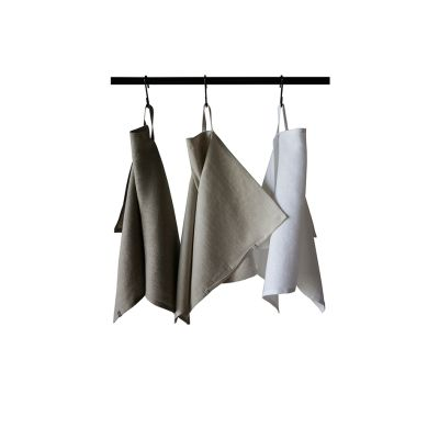 Three linen tea towels Neutral