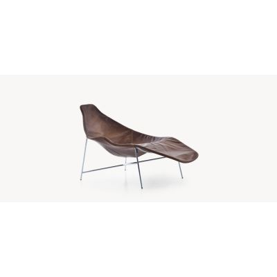 Tia Maria Asymmetric Chaise Lounge - new B0035 - Leather Neon - T, Stone Grey