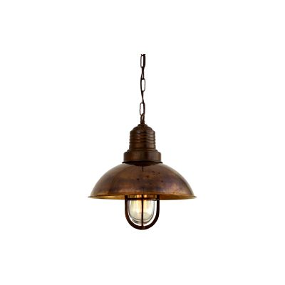 Tirana Pendant Light Satin Brass, Frosted Glass