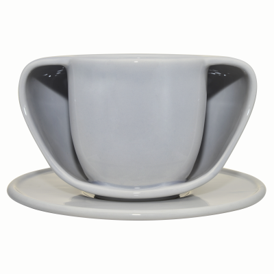 ToastyMUG with Saucer ToastyMUg Grey + Saucer