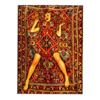 Toiletpaper Lady on Carpet Rectangular Rug