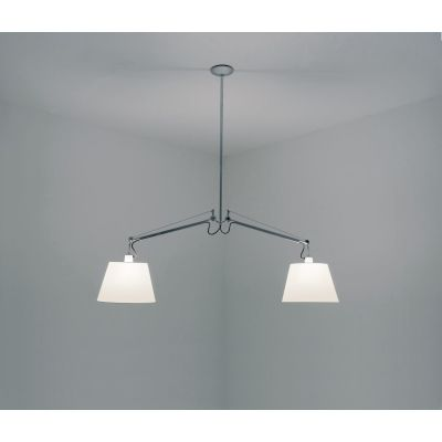 Tolomeo Basculante 2 Bracci Suspension Light 42 cm - grey satin