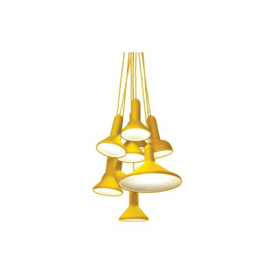 Torch Pendant Light, Bunch - S10 Yellow Shade with Yellow Cable