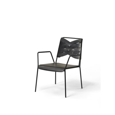 Torso Lounge Chair Black / Black