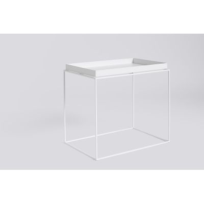 Tray Rectangular Side Table White