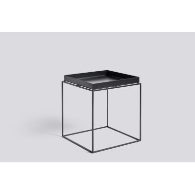 Tray Square Side Table Black, Medium