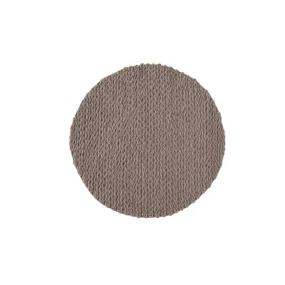 Trenzas Circular Rug Taupe, d225 cm