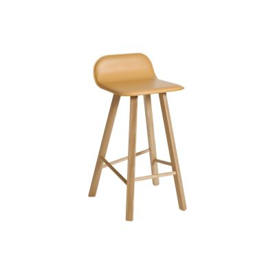 Tria Low Backed Bar Stool Natural Leather