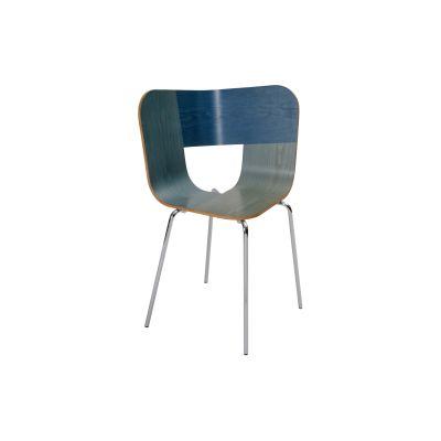 Tria Metal Legged Dining Chair Denim