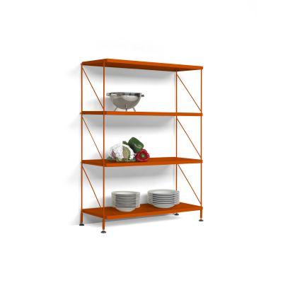 Tria Pack Floor Shelving System Orange