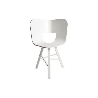 Tria Three Legged Dining Chair White