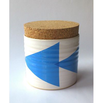 Triangles Tea Jar Blue