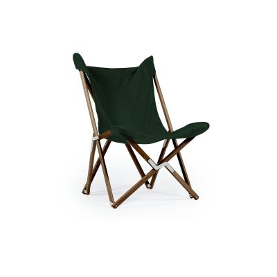 Tripolina Chair Forest Green, Dark Frame