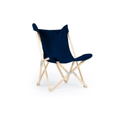 Tripolina Chair Royal Blue, Natural Frame