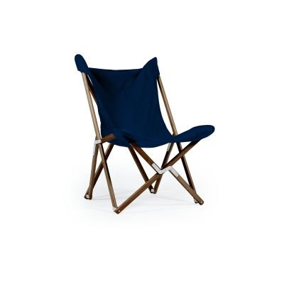 Tripolina Chair Royal Blue, Dark Frame