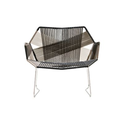 Tropicalia Armchairs with Arms Stainless Steel, Faux Leather