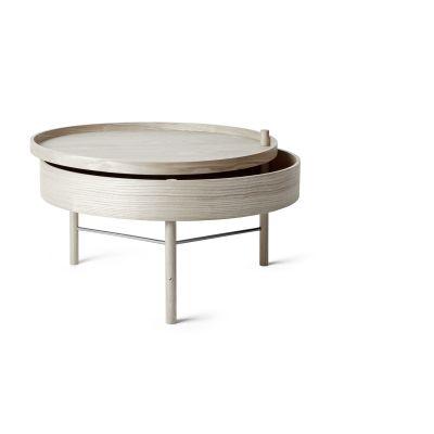 Turning Coffee Table White Oak/Black Chrome