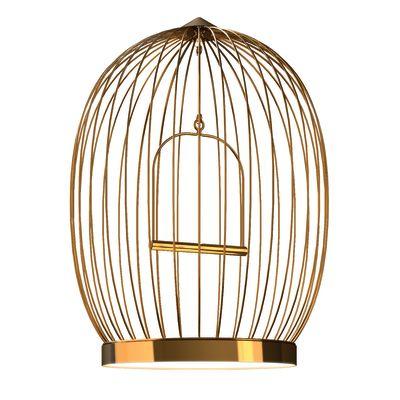 Twee T. Lamp Large 24 carat gold painted metal