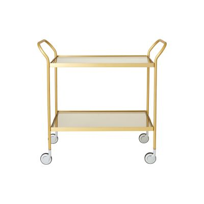 Two Tier Glass Trolley