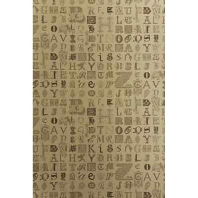 Typecast Wallpaper Vintage Gold