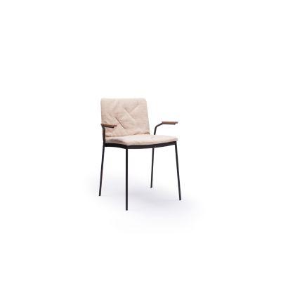 Tyris Armchair, Set of 2 Beige Textured Metal, Steelcut 2 110