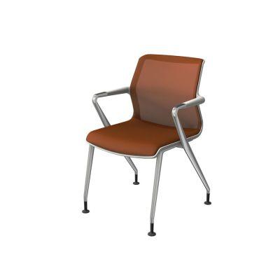 Unix Four-legged base Chair Silk Mesh 24 soft grey, 30 basic dark, 02 castors hard braked for carpet